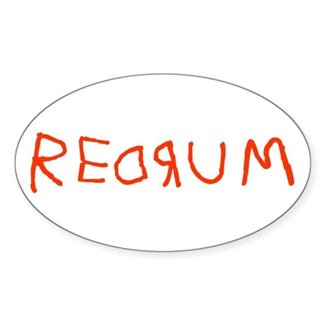 Redrum Oval Sticker