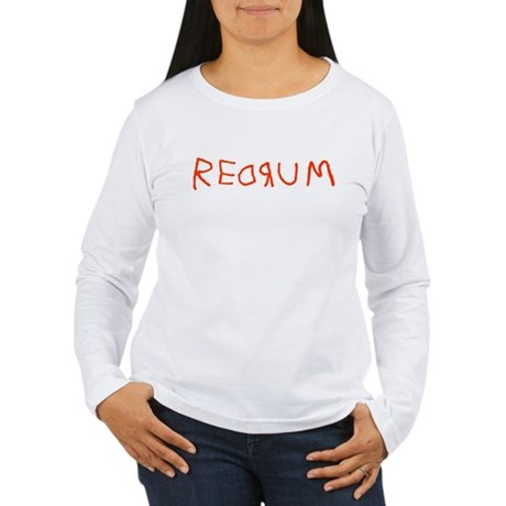 Redrum Womens Long Sleeve T-Shirt