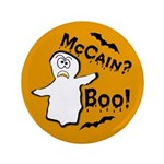 "McCain? Boo! Halloween 3.5"" Button"