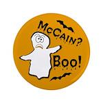 "McCain? Boo! Halloween 3.5"" Button"
