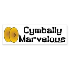 Cymbally Marvelous Bumper Sticker (10 pk)