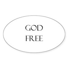 God Free Oval Sticker (10 pk)