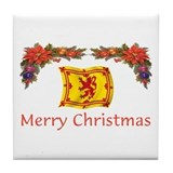 Scottish Merry Christmas 2 Tile Coaster