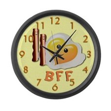 Bacon And Eggs Large Wall Clock