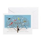 Winter Bird Tree Christmas Cards (Pk of 10)