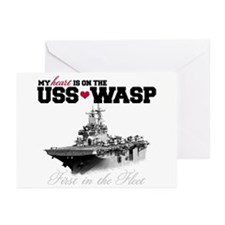 USS Wasp (Heart) Greeting Cards (Pk of 10)