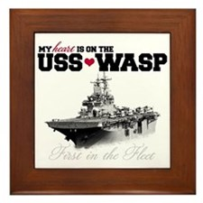 USS Wasp (Heart) Framed Tile