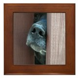 The Nose Knows Framed Tile