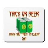 Trick Or Beer Mousepad