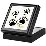 River Otter Tracks Keepsake Box
