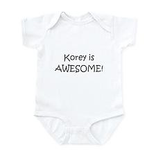 Unique I love korey Infant Bodysuit