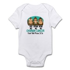 See Speak Hear No Ovarian Cancer 1 Infant Bodysuit