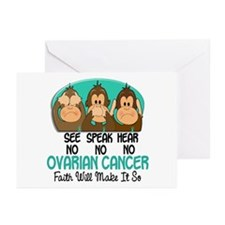 See Speak Hear No Ovarian Cancer 1 Greeting Cards
