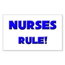 Nurses Rule! Rectangle Decal