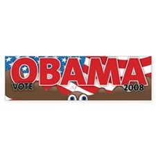 Vote OBAMA MOOSE Bumper Bumper Sticker