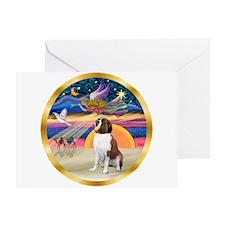XmasStar/St Bernard 1b Greeting Card