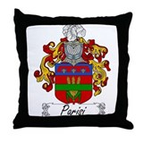 Parisi Family Crest Throw Pillow