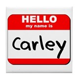 Hello my name is Carley Tile Coaster