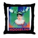 Sarah Palin is Mooselini Throw Pillow