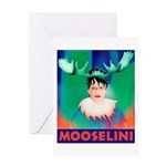 Sarah Palin is Mooselini Greeting Card