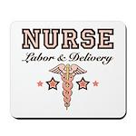 Labor & Delivery Nurse Caduceus Mousepad