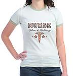 Labor & Delivery Nurse Caduceus Jr. Ringer T-Shirt