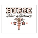 Labor & Delivery Nurse Caduceus Small Poster