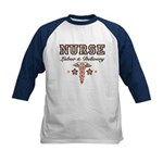 Labor & Delivery Nurse Caduceus Kids Baseball Jers