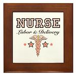 Labor & Delivery Nurse Caduceus Framed Tile
