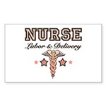 Labor & Delivery Nurse Caduceus Sticker 10 Pac