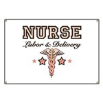 Labor & Delivery Nurse Caduceus Banner