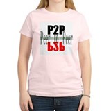 p2p - peer to peer -  Women's Pink T-Shirt