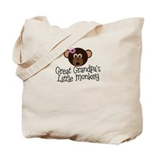 Great Grandpa's Monkey G Tote Bag