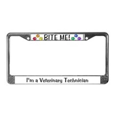 License Plate Frame - BITE ME! design