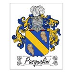 Pasqualini Family Crest Small Poster