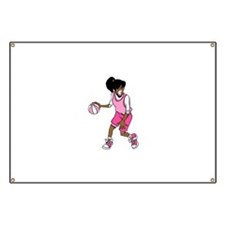 Basketball Girl Banner