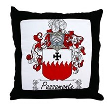 Passamonte Family Crest Throw Pillow