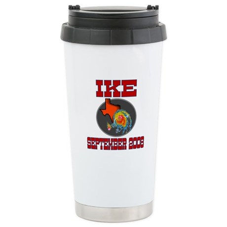Hurricane Ike Ceramic Travel Mug