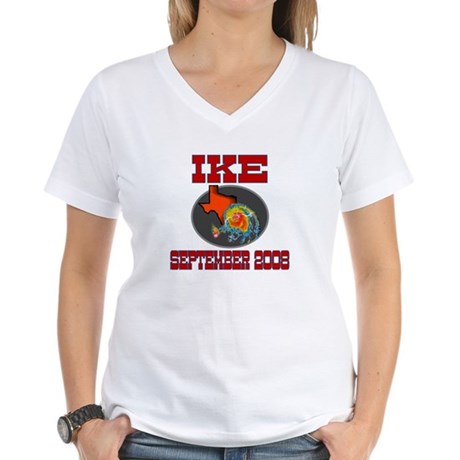 Hurricane Ike Women's V-Neck T-Shirt