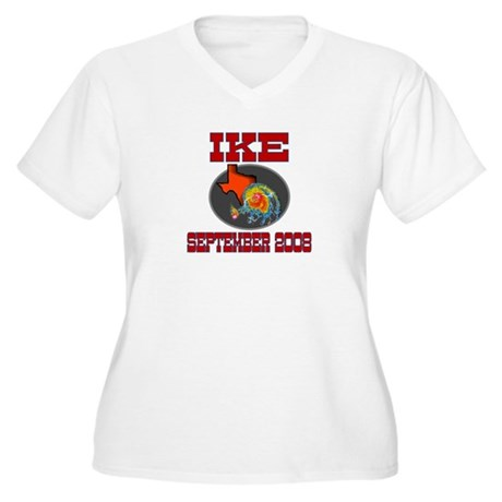 Hurricane Ike Women's Plus Size V-Neck T-Shirt