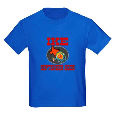 Hurricane Ike Kids Dark T-Shirt