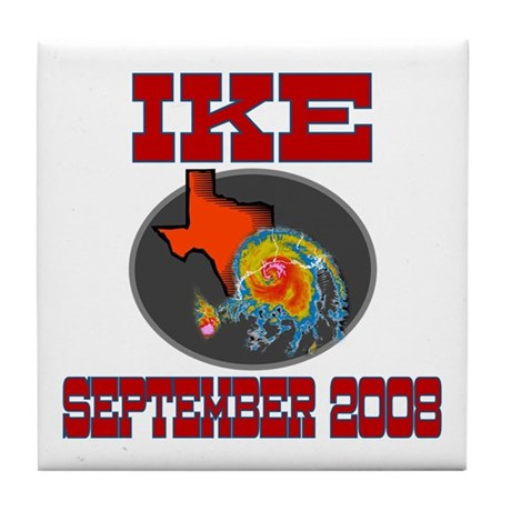 Hurricane Ike Tile Coaster