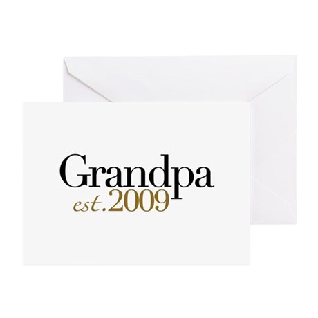 New Grandpa 2009 Greeting Cards (Pk of 10)