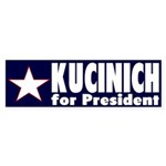 Kucinich for President (bumper sticker)