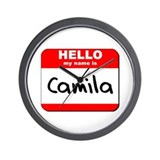 Hello my name is Camila Wall Clock