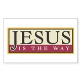 Jesus Rectangle Bumper Stickers