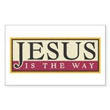 Jesus Rectangle Decal