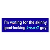 Skinny smart guy Bumper Bumper Sticker