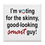 Skinny smart guy Tile Coaster