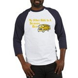 My other Ride Is A School Bus Baseball Jersey
